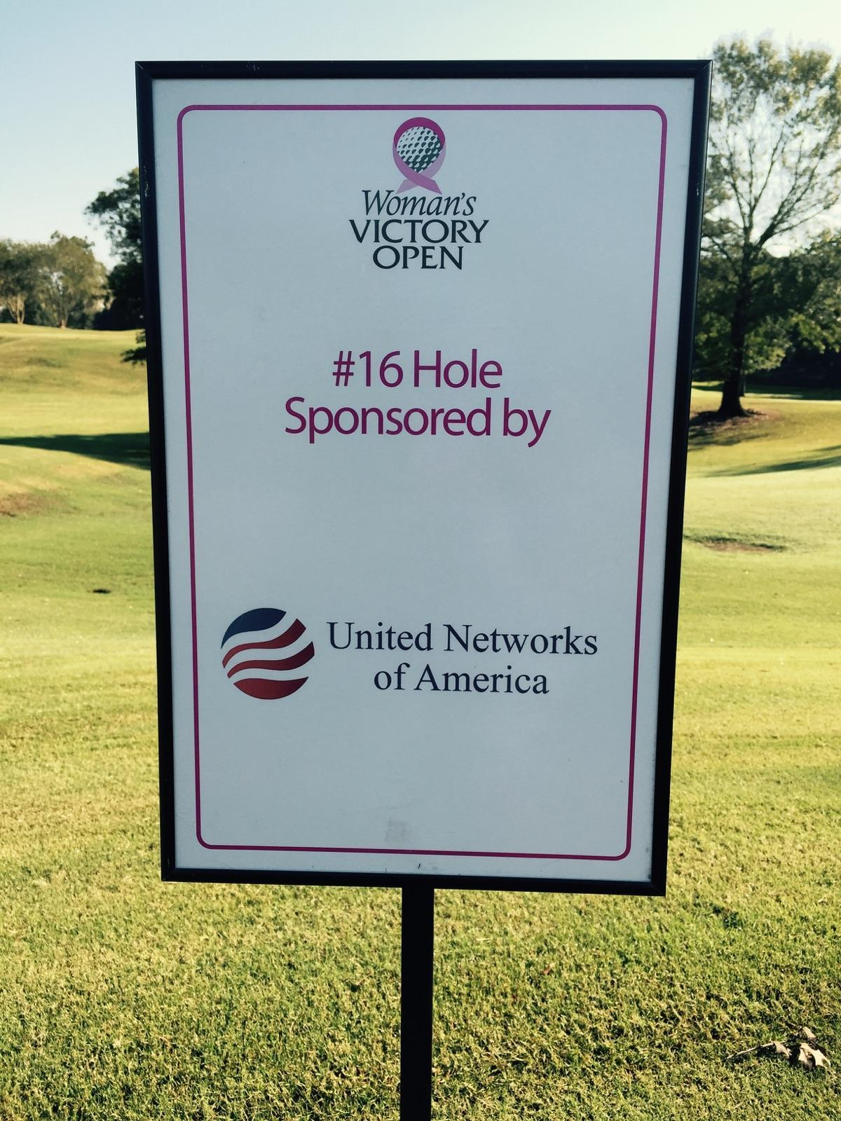 United Networks of America is a proud supporter of the Woman's Victory Open